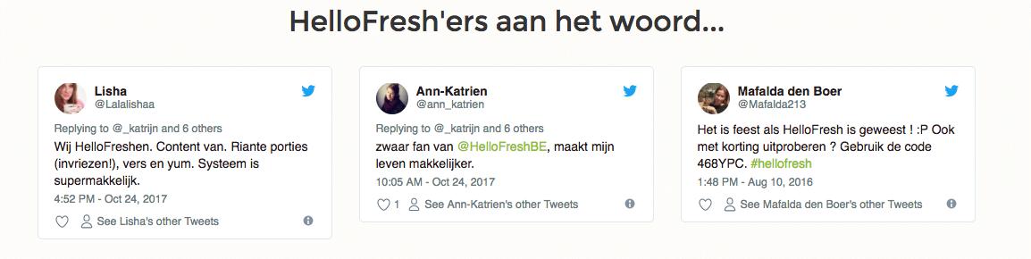 hellofresh review belgie